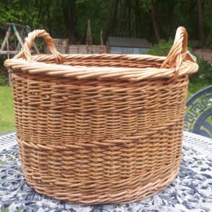 Large Cranked Side Handled Basket