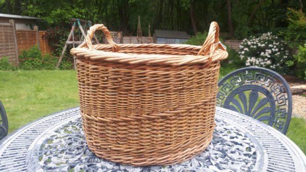 Large Cranked Side Handled Basket