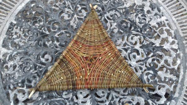 "Triangular tray (hazel frame) 13"" at widest"