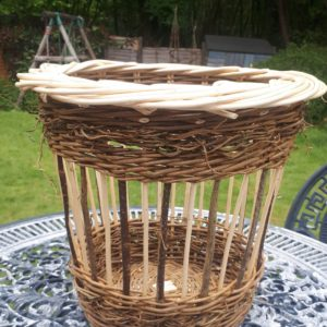 "White Willow and Hazel Wastepaper Basket 13"" high x 14"" diameter £45"